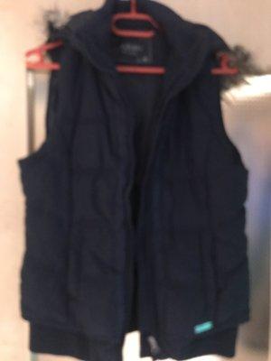 Multiblu Kamizelka ze sztucznym futrem ciemnoniebieski