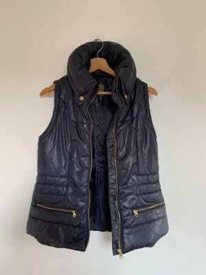 Vero Moda Quilted Gilet dark blue
