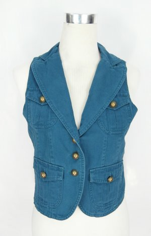 Smanicato jeans petrolio-blu Cotone