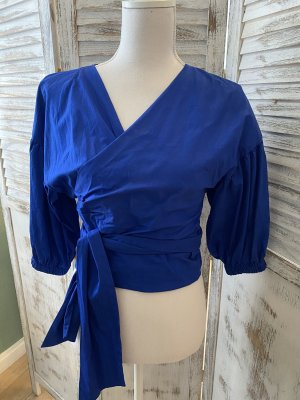 Zara Wikkelblouse blauw