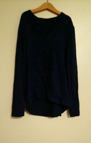 Oysho Blouse portefeuille bleu coton