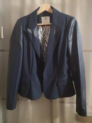 PULZ Jeans Leather Blazer dark blue