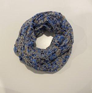 Sciarpone bianco-blu