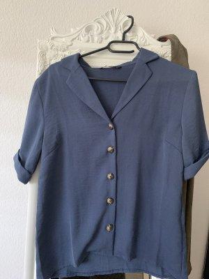 Only Cols de blouses bleu acier