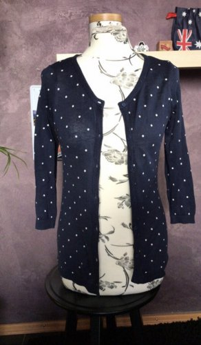 BSK by Bershka Knitted Cardigan dark blue