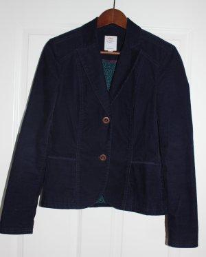 Blauer Cord Blazer mit schönen Details