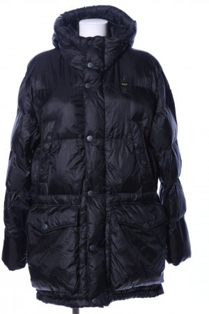 Blauer Daunenjacke schwarz Steppmuster Casual-Look