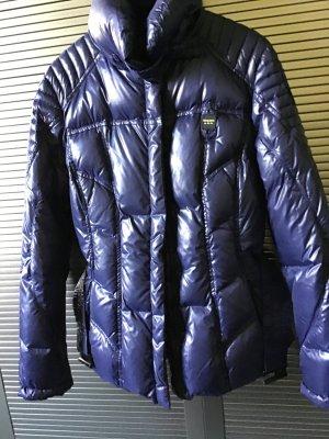Blauer Doudoune bleu foncé tissu mixte