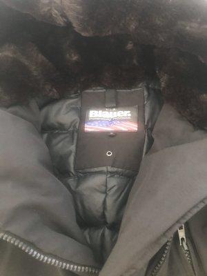Blauer Doudoune noir tissu mixte
