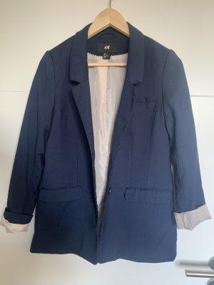 H&M Blazer stile Boyfriend blu scuro-blu
