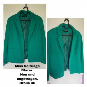 Miss Selfridge Jersey blazer grasgroen-cadet blauw