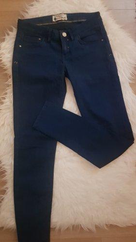 Pantalone di lino blu-blu scuro