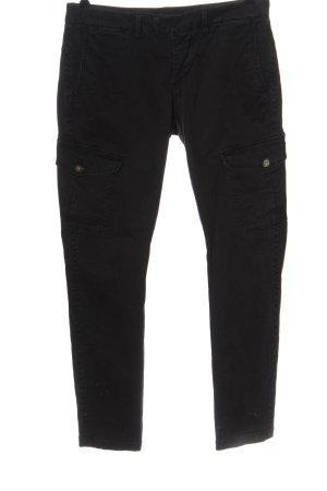 Blauer Jeans taille basse noir style décontracté