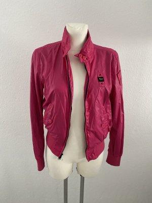 Blauer Jacke Pink S