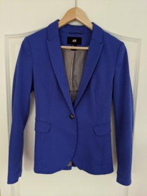 H&M Blazer en jersey bleu fluo
