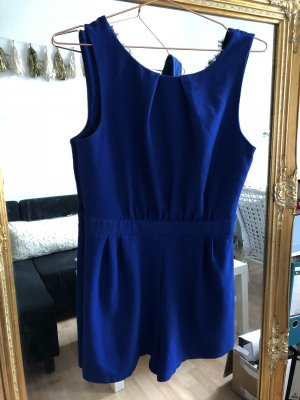 Blauer jumpsuit party overall Spitze