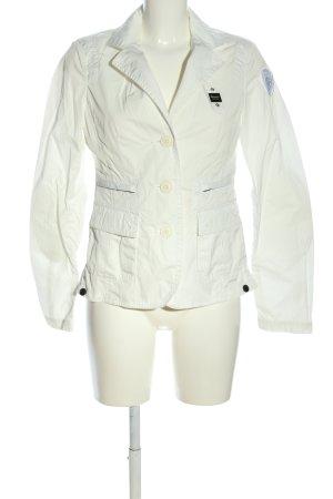 Blauer Krótka marynarka w kolorze białej wełny W stylu casual