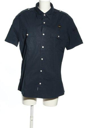 Blauer Koszula z krótkim rękawem niebieski W stylu casual
