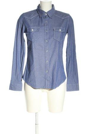 Blauer Chemise à manches longues bleu style décontracté