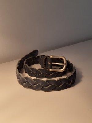 Cintura di pelle blu acciaio
