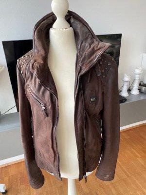 Blauer USA Leather Jacket light brown