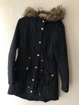 Atmosphere Abrigo con capucha azul oscuro