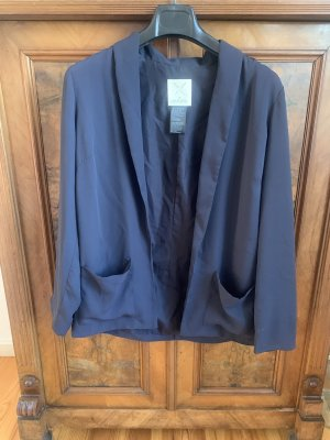 Urban Outfitters Jersey Blazer dark blue