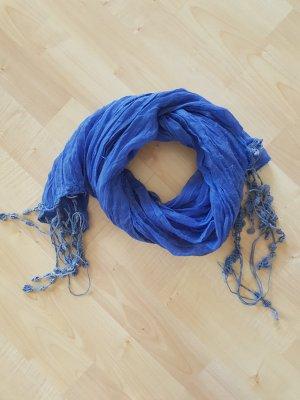 blauer, leichter Schal aus Viskose