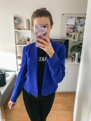 blauer lockerer Blazer mit Schulterpolstern von Mango - Größe 36