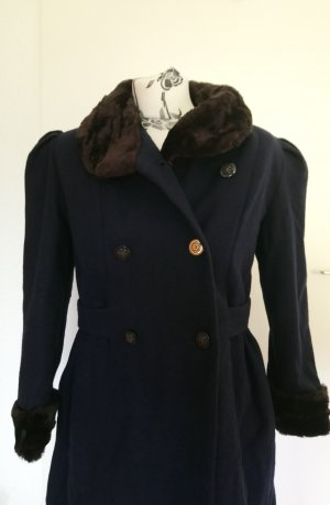 Cappotto in lana multicolore