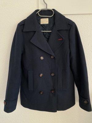 Blauer Mantel Zara