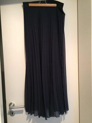 Expresso Falda larga azul oscuro Poliéster