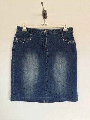 Blauer Midi kurzer Jeans Rock von AproductZ, Gr. 44