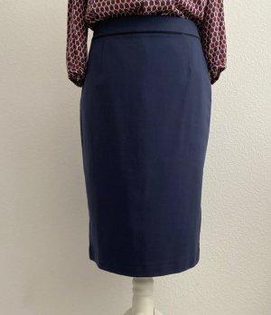 Boden Spódnica midi stalowy niebieski Bawełna