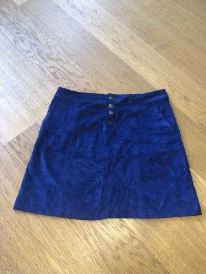 Blauer Minirock Velours Größe 38