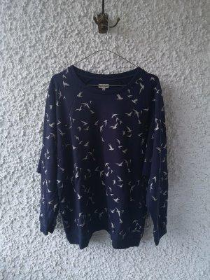 blauer Oversize Pullover mit Möwenprint von Element