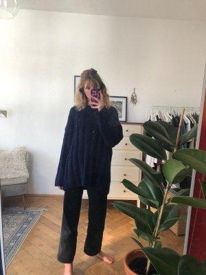 Blauer, Oversized Strickpullover von Zara