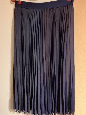 Escada Falda plisada azul oscuro