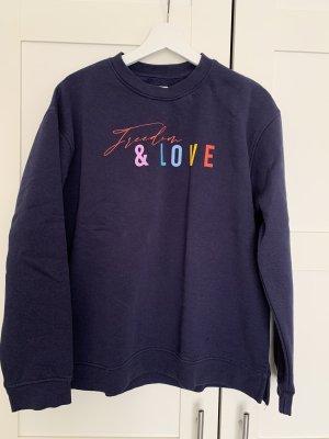 Bohoo Kraagloze sweater donkerblauw