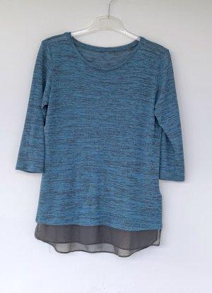 blauer Pullover mit 3/4 Arm, Gr. 40