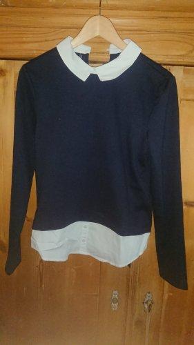 Only Blusa con capucha azul oscuro