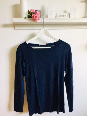 Stefanel Fine Knit Jumper dark blue lyocell