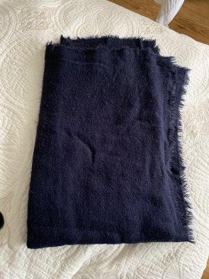 Zara Bufanda de flecos azul oscuro