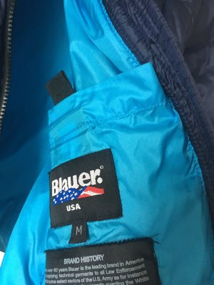 Blauer Gewatteerd jack donkerblauw-geel