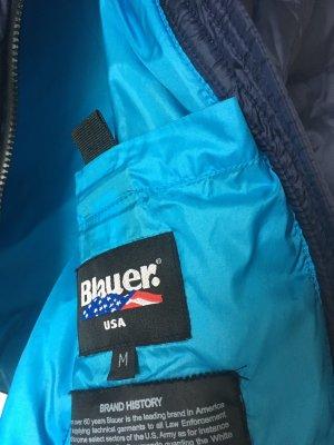 Blauer Quilted Jacket dark blue-yellow