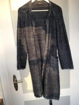 Zara Manteau en tricot bleu foncé-bleu