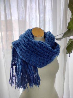 H&M Écharpe en tricot bleu