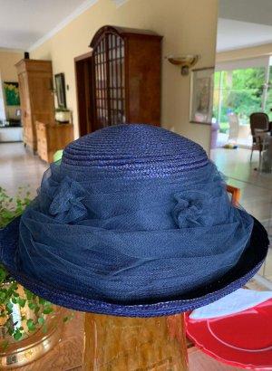 Cappello di paglia blu scuro