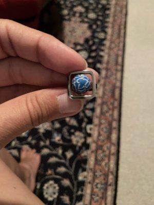 Swatch Bijoux Srebrny pierścionek niebieski