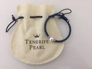 Blauer Tenerife Pearl Armreifen